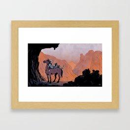 Reading Cowboy Framed Art Print