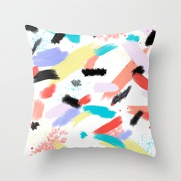 Throwback Splash Paint Throw Pillow