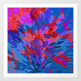exploding coral Art Print