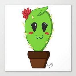 Unfortunate relationship: cute cactus black symbol Canvas Print