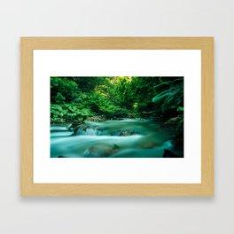 river and tree by Jetmir Sejdiu Framed Art Print