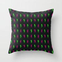 girls Throw Pillows featuring Girls by Derek Eads