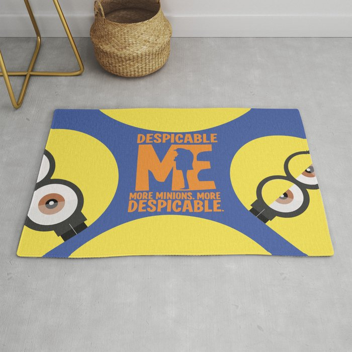 Gru, 3D animated movie poster, cartoon, children, minimalist playbill, Steve Carell Rug