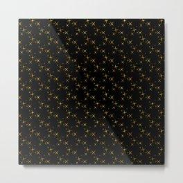 Art Deco: Glitter Gold Stars of Tangiers Pattern Metal Print