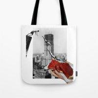 metropolis Tote Bags featuring Metropolis by Lerson