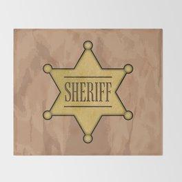 Wild West Sheriff's Badge Throw Blanket