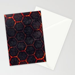 Lava Hexagons Stationery Cards