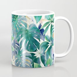 Golden Summer Tropical Emerald Jungle Coffee Mug
