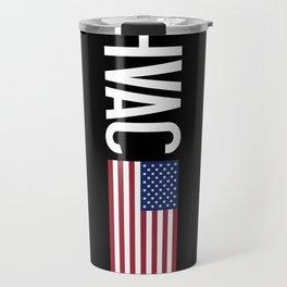 HVAC: HVAC & American Flag Travel Mug