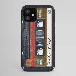 Retro classic vintage gold mix cassette tape iPhone Case