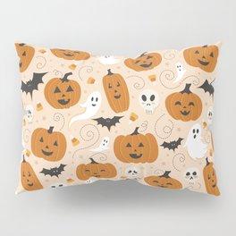 Pumpkin Party on Beige Pillow Sham