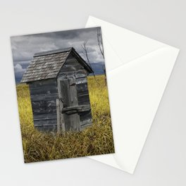 Rural Outhouse langishing in the Countryside Stationery Cards