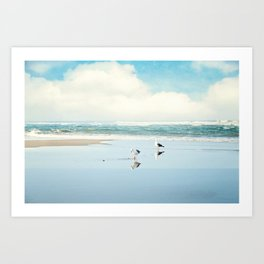 ocean reflections Art Print
