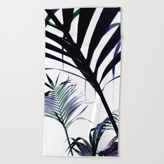 Palms Silhouettes Beach Towel