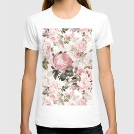 Vintage & Shabby Chic - Sepia Pink Roses T-shirt