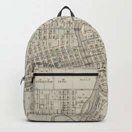 Vintage Map of Des Moines IA (1875) Backpack