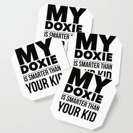 Dacshund Dog Design Funny Tee for Mom Dad Men or Women Coaster