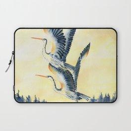 Flight Of Blue Heron  Laptop Sleeve