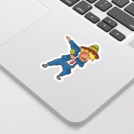 Trump Mexico Dab Dance USA America Donald Dabbing Sticker