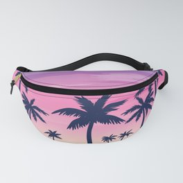 Palms with Purple Sky Fanny Pack