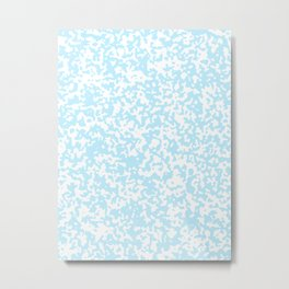 Small Spots - White and Light Blue Metal Print