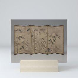 Kusumi Morikage - Seven Sages of Bamboo Grove Mini Art Print