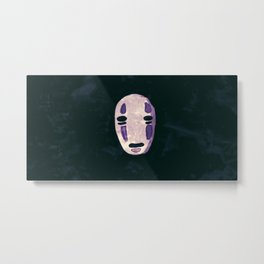Mysterious No Face Metal Print