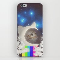 space cat iPhone & iPod Skins featuring Space Cat by omgcatz