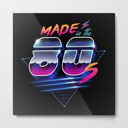 Made in the 80's Metal Print