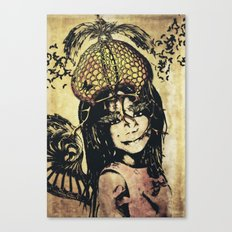 butterly girl Canvas Print