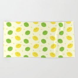 Kawaii Lemons & Limes Beach Towel