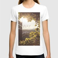 norway T-shirts featuring Way, Norway by Hana Savana