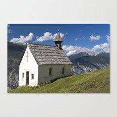 Mountain Chapel - Tirol Canvas Print