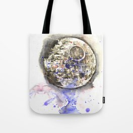 Star War Art Painting The Death Star Tote Bag