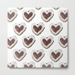 Valentine Heart Cookie Pattern Metal Print