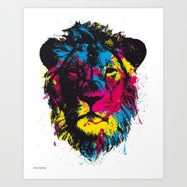 COLORED LION Art Print