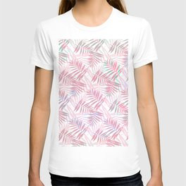 Pastel Color Palms Pattern T-shirt