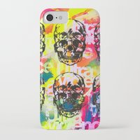 ultraviolence iPhone & iPod Cases featuring Ultraviolence 4i skull - mixed media on canvas by kakin