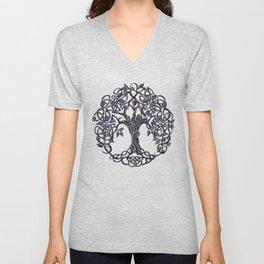 Tree of Life Silver Unisex V-Neck