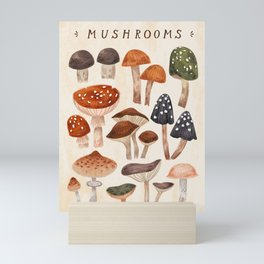 Mushrooms Mini Art Print