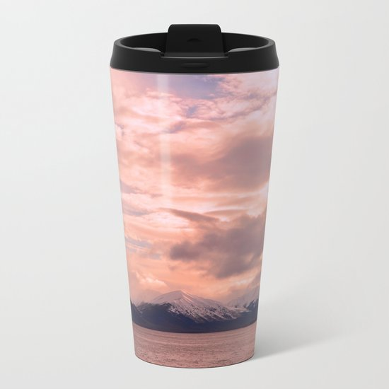 Rose Quartz Over Hope Valley Metal Travel Mug