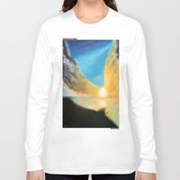 angel wings Long Sleeve T-shirts featuring WINGS OF AN ANGEL by KEVIN CURTIS BARR'S ART OF FAMOUS FACES