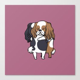 Cavalier King Charles Spaniel hugs Canvas Print