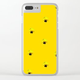 YELLOW  PANSY FLOWERS SPRINKLES GOLDEN YELLOW Clear iPhone Case
