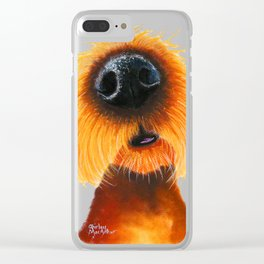 Nosey Dog 'SMeLLs LiKE SuNShiNe' by Shirley MacArthur Clear iPhone Case