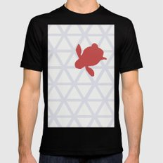 Triangle vs. Turtle Black MEDIUM Mens Fitted Tee