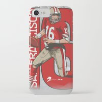nfl iPhone & iPod Cases featuring NFL Legends: Joe montana 49ers by Akyanyme