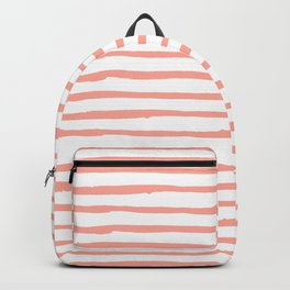 Pink Drawn Stripes Backpack
