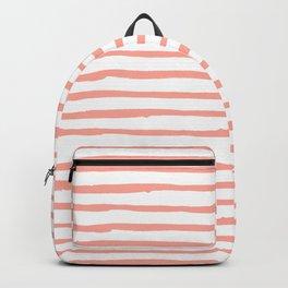 Pink Drawn Stripes Backpack
