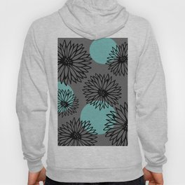 Chrysanthemums in Gray and Blue Hoody